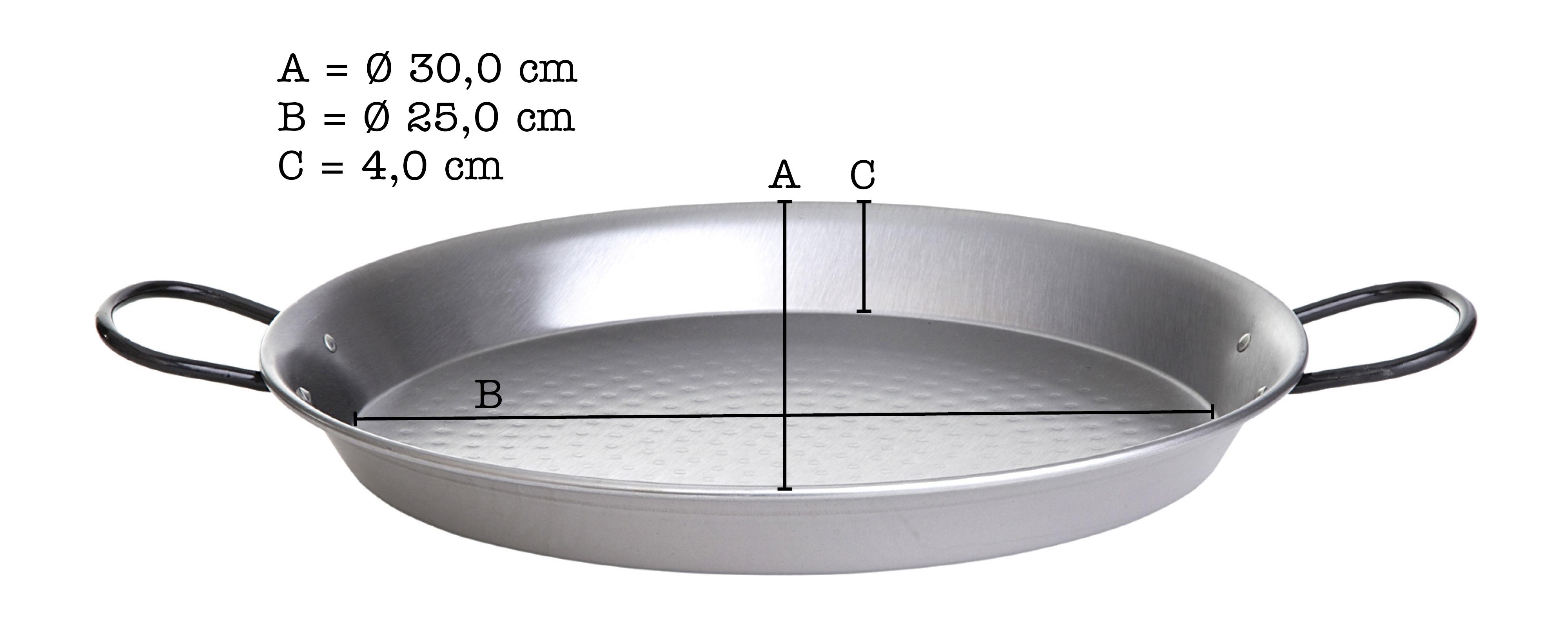 paellapfanne stahl poliert durchmesser 30 cm. Black Bedroom Furniture Sets. Home Design Ideas