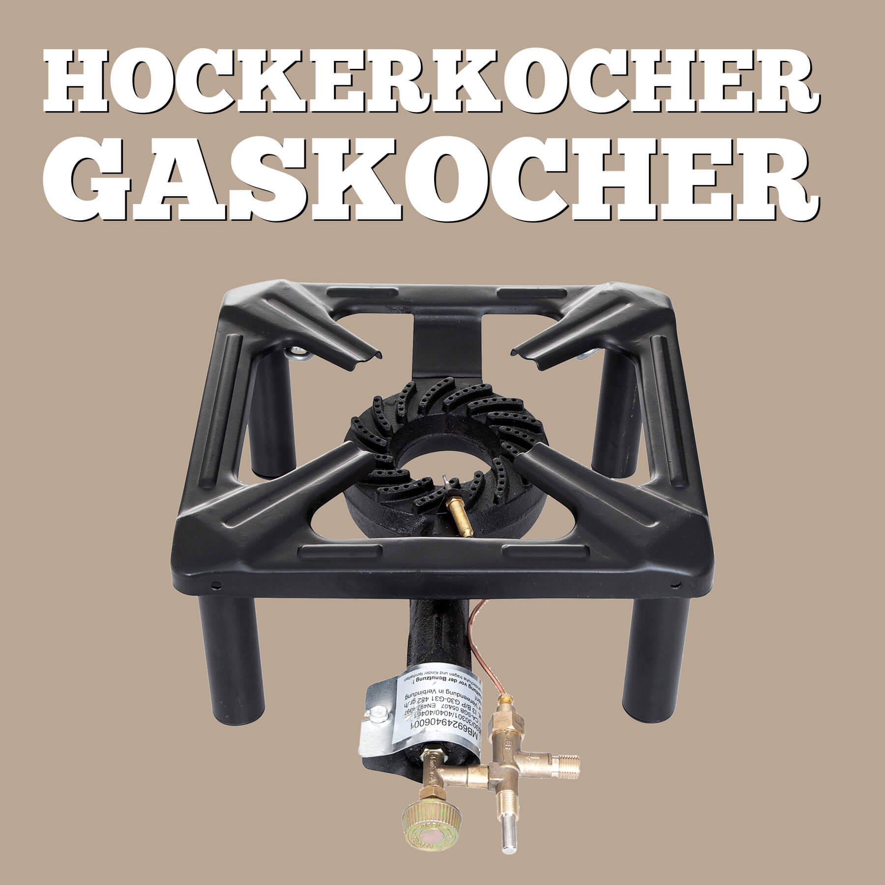 Hockerkocher Gaskocher von ALL'GRILL