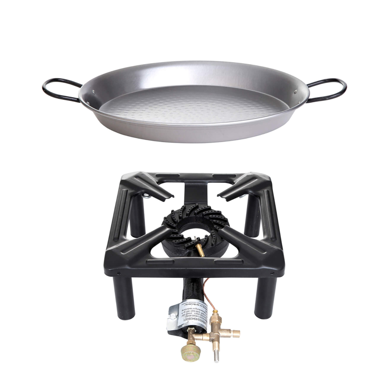 Tabulet-Cooker-SET 3 (big) -Steel paella pan 42cm- with ignition protection