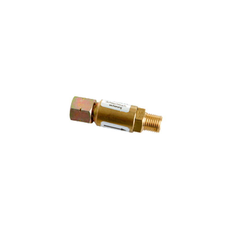 Hose break fuse for commercial use 30mbar