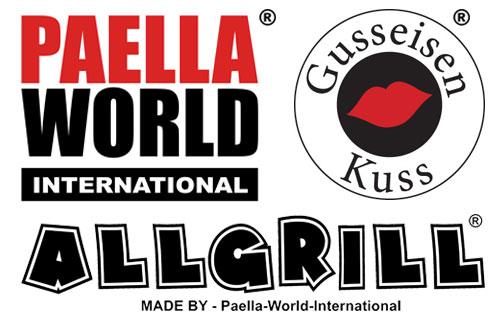 Logo - Paella World International - Allgrill Gasgrill - Gusseisenkuss